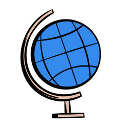 school geographical globe icon cartoon vector image