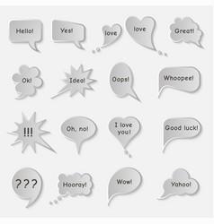 Set of simple original speech bubbles vector