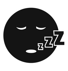 sleep smile icon simple vector image