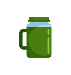 Spinach juice icon flat style vector