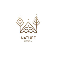 spruce forest logo vector image