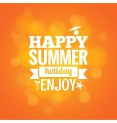 summer holiday design background vector image