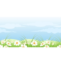 summer meadow pattern vector image