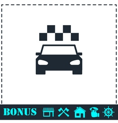 Taxi icon flat vector