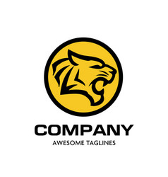 Tiger head logo concept vector