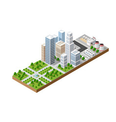 top view of the city vector image