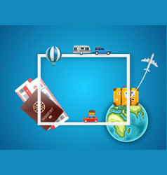vacation concept with accessories template for a vector image