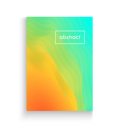 vibrant template with abstract multicolored fluid vector image