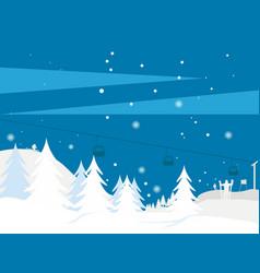 winter landscape 3 vector image