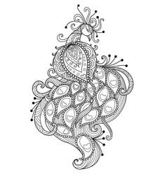 zendoodle stylized beautiful peacock vector image
