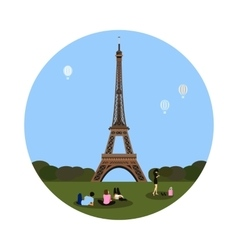 Eiffel tower icon Paris sign vector image