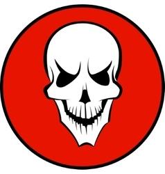 Human white skull vector image vector image