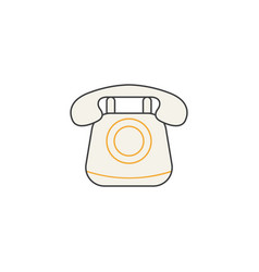 Old phone line icon vintage call social media vector