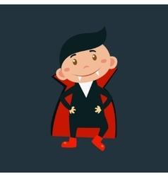 Boy In Dracula Haloween Disguise vector image vector image