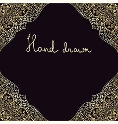 hand drawn highly detailed frame vector image vector image