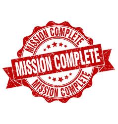 mission complete stamp sign seal vector image