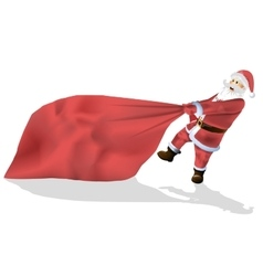 Santa Claus is a big bag of gifts isolated on vector image vector image