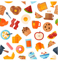 breakfast food healthy icons meal and vector image vector image