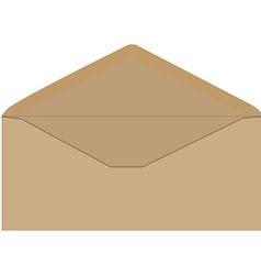Brown envelope vector image vector image