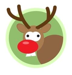 Christmas deer flat icon vector image vector image
