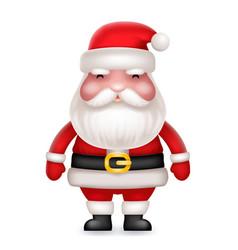 cute 3d realistic cartoon santa claus toy vector image