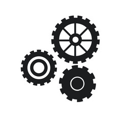 gear work mechanical cooperation pictogram vector image