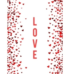Romantic red heart background vector image vector image