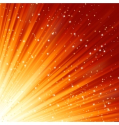 Snowflakes and stars descending light EPS 8 vector image vector image