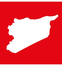 syria map on res background vector image
