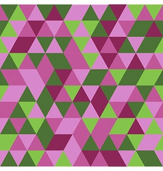 abstract pink green triangle seamless background vector image