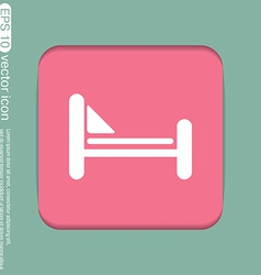 bed symbol sign symbol or hotel stay vector image