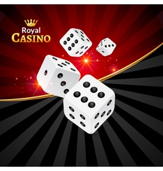 Dice casino design background Dice gambling vector image