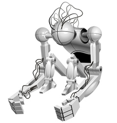 sitting robot vector image vector image