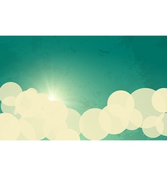 Sky with Sun and Clouds vector image vector image