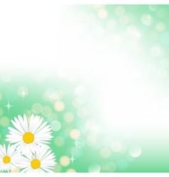 Spring green bokeh background vector image vector image