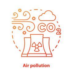 air pollution concept icon atmosphere industrial vector image