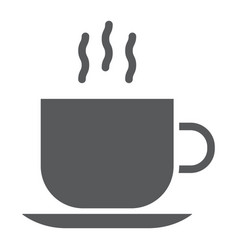 Americano glyph icon coffee and cafe hot vector