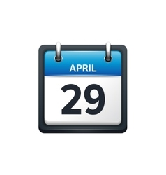 April 29 Calendar icon flat vector image