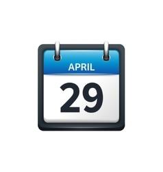 April 29 Calendar icon flat vector image