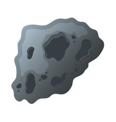 Asteroid rock stone isolated style icon vector