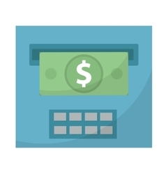 ATM gives out money icon cashouts flat design vector