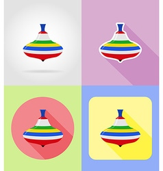 baby flat icons 03 vector image