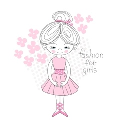 Ballerina gently pink color vector