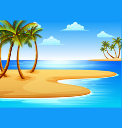 beautiful tropical beach vector image