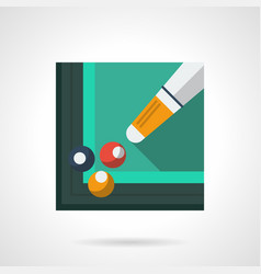 Billiard skill flat square icon vector