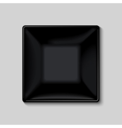 Black square plate vector