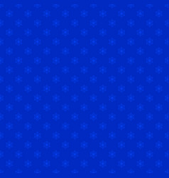 Blue seamless stylized snowflake pattern vector