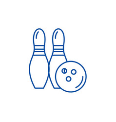 bowling line icon concept bowling flat vector image