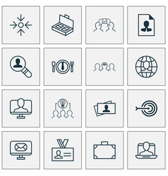 Business icons set with business aim vector