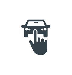 car select concept logotype template design vector image